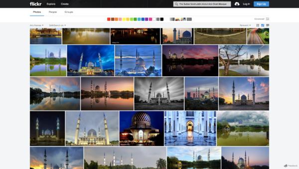 ブルーモスクの写真がたくさん掲載されています。